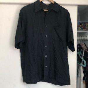 Men's Black Claiborne button down shirt